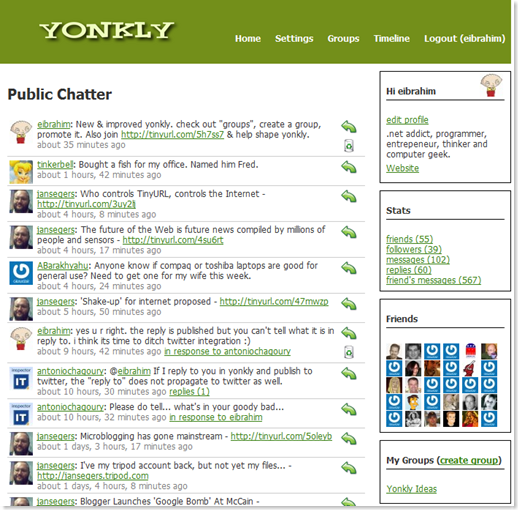 Yonkly Groups and new Look